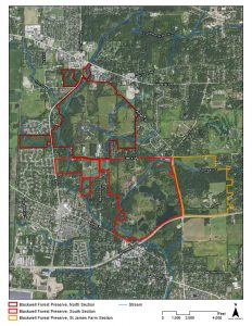 Map of Blackwell Preserve